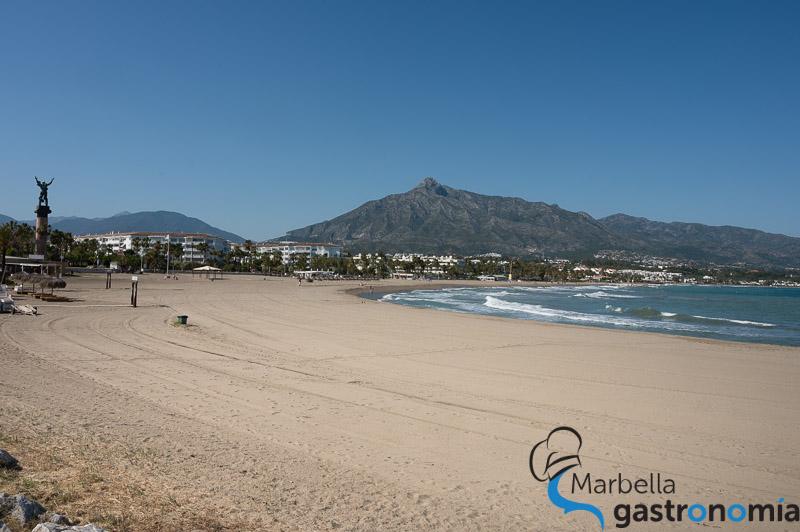 Playa de Puerto Banús en Marbella